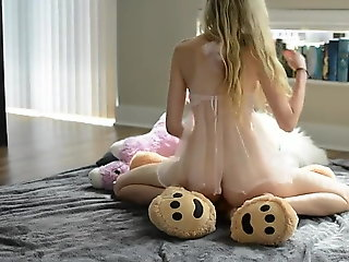blonde, amateur, sex toy